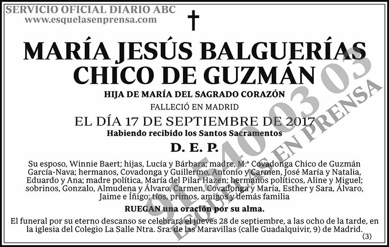 María Jesús Balguerías Chico de Guzmán